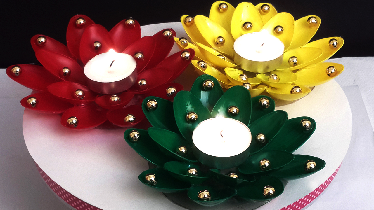 Picture of Place Wax Diyas at the Center and Your Craft Is Ready!