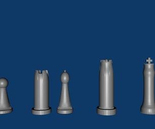 Chess Kit Made in Blender 3D