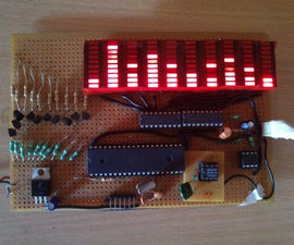 100 LED 10 band Audio Spectrum atmega32 MSGEQ7 with  peak hold and fall down
