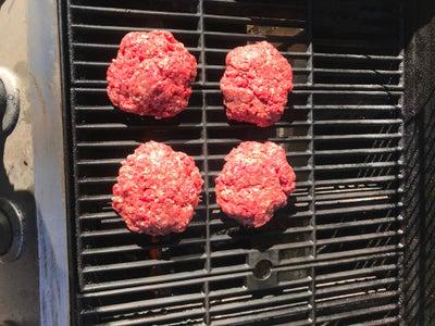 Put the Hamburger Patties on the Grill