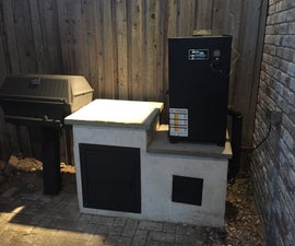 """Built-In Cold Smoker For Electric Smoker """"Mailbox Mod""""-mod"""