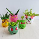 DIY Recycled Pokemon Planters