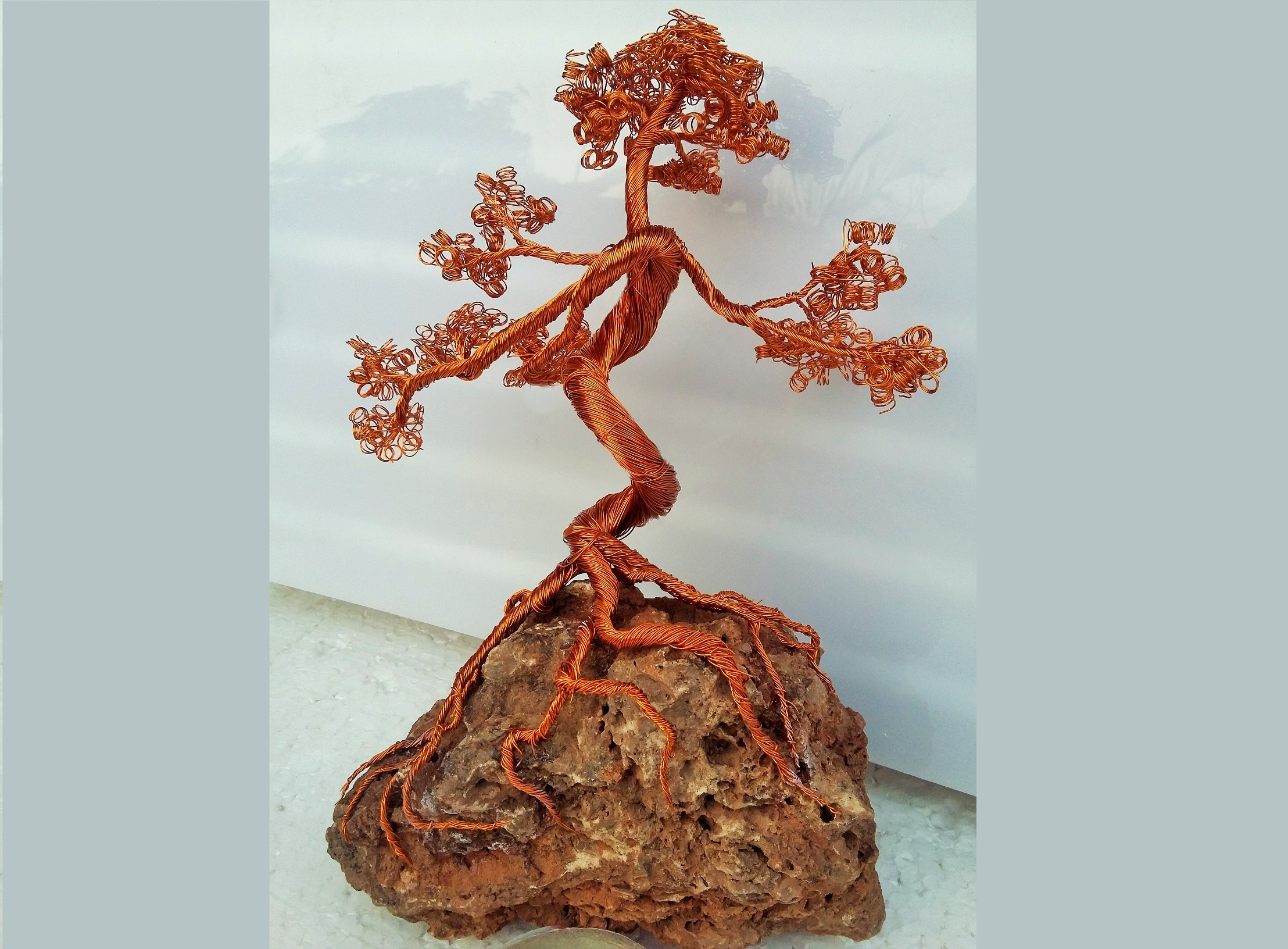 Picture of Wire Tree on Rock