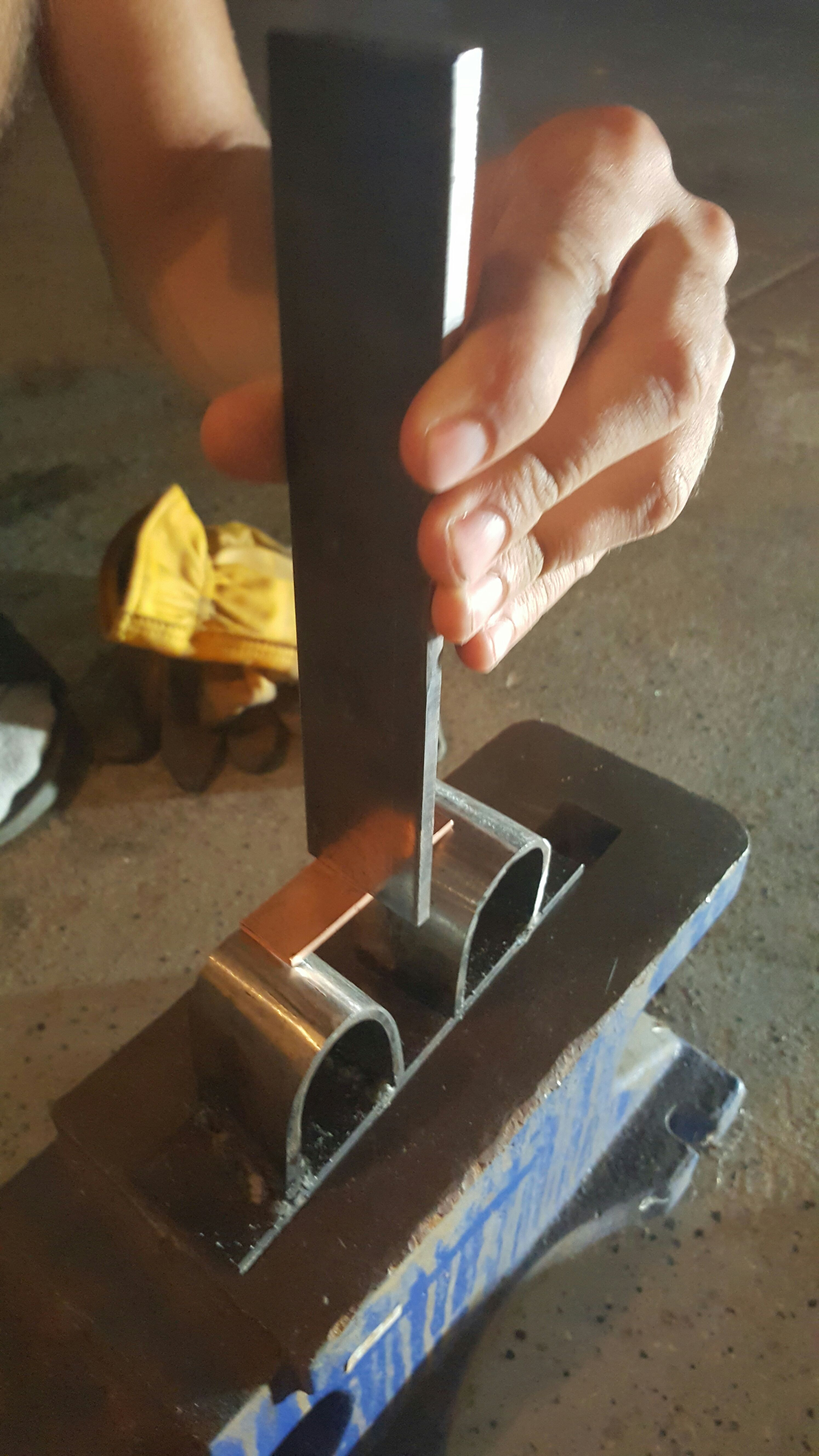 Picture of Cutting and Rough Forming of the Copper