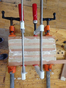 Glue the Strips Using Clamps