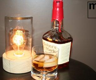 Bourbon Oak Jar Lamp