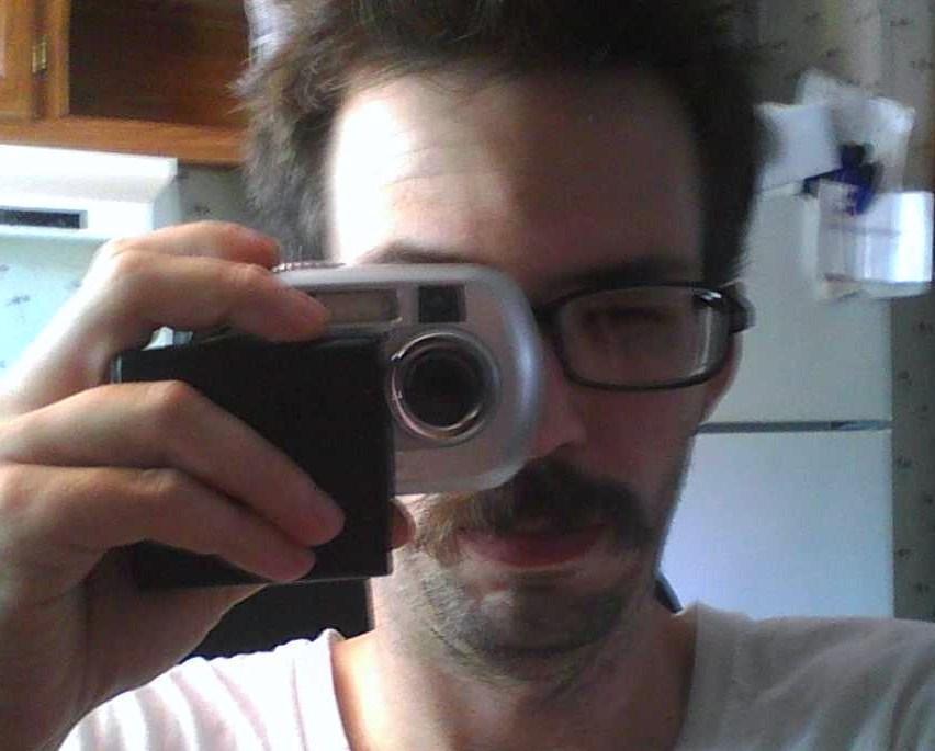 Picture of Kodak Easyshare CX7300 Camera Modified to Replace Broken Battery Door.