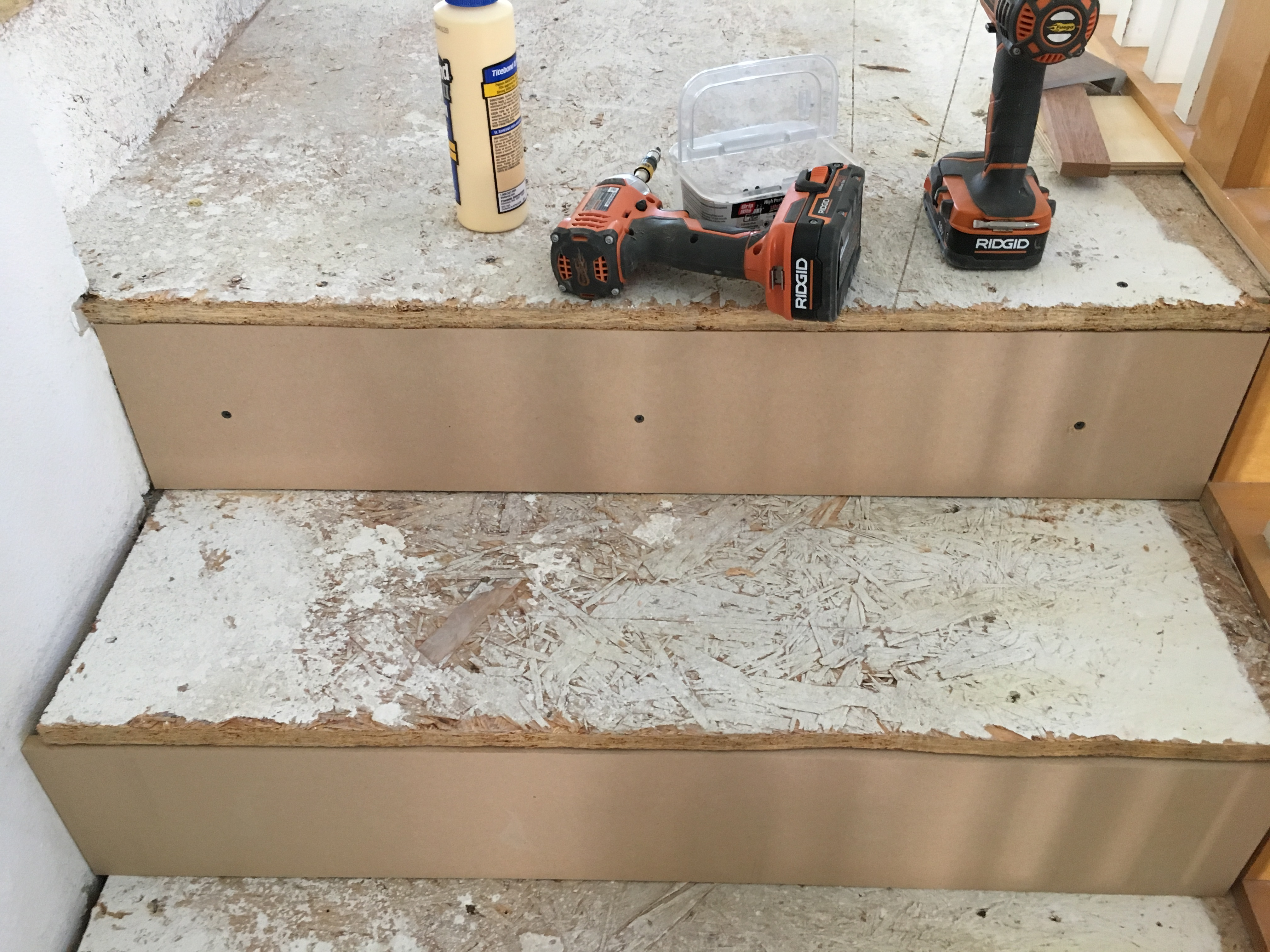 "Picture of Adding the 1/2"" MDF to the Risers"