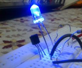 Light/dark sensor using BJT Light