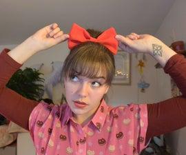 Kiki's Delivery Service Hair Bow - Big Anime Hair Bow