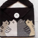 "Knitted Bag ""Cats"""
