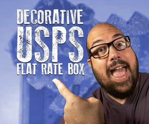 Decorative Box Using USPS Flat Rate Boxes