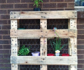 Pallet Recycling: Plant Bookcase