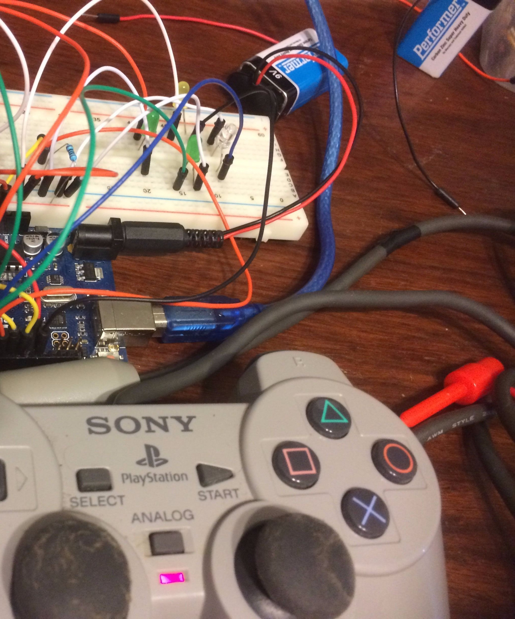 Ps2 Wire Controller And Arduino Control Leds 3 Steps Dualshock 2 Wiring Diagram
