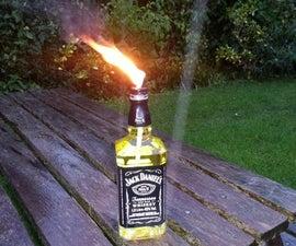 Jack Daniels burner (inspired by tjesse's Glass Bottle Tiki Torch)
