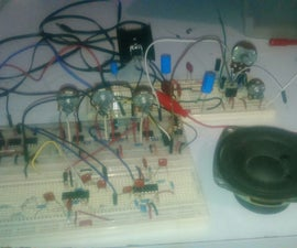 Sound Amplifier With TDA2050 and Equalizr With 741 Opam