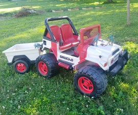 Jurassic Park Power Wheels Jeep - Paint / LED Lighs / Easy ESC Speed Controller