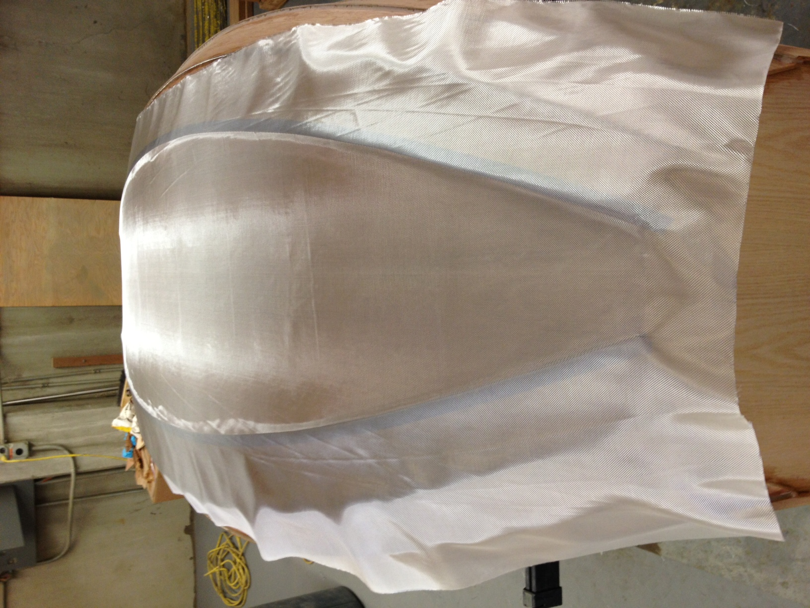 Picture of ​Fiberglassing the Hull...
