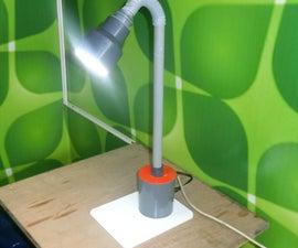 LED Table Lamp Using PVC