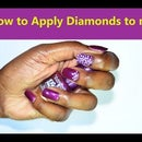 How to Apply Diamonds on Fake Nail