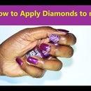 How to Apply Diamonds on Fake Nail