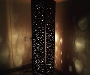 Wooden Space Lamp