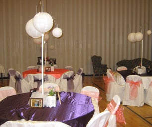 Freestanding Paper Lantern Table Decorations