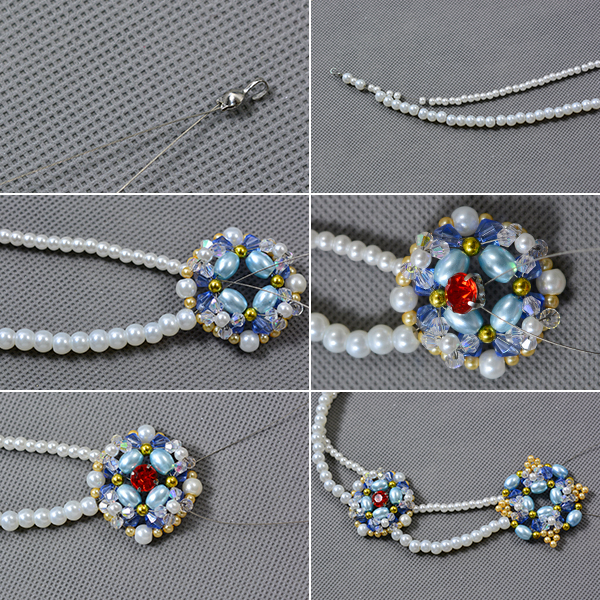 Picture of Make the Double Strands Pearl Beads Necklace
