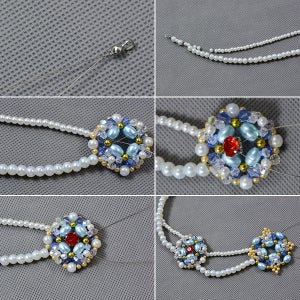 Make the Double Strands Pearl Beads Necklace