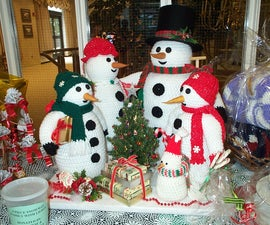 Crochet and Knit Snowman Family