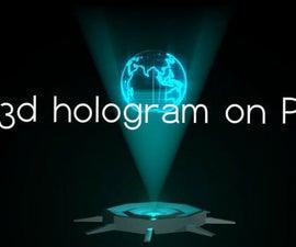 3d hologram on PC
