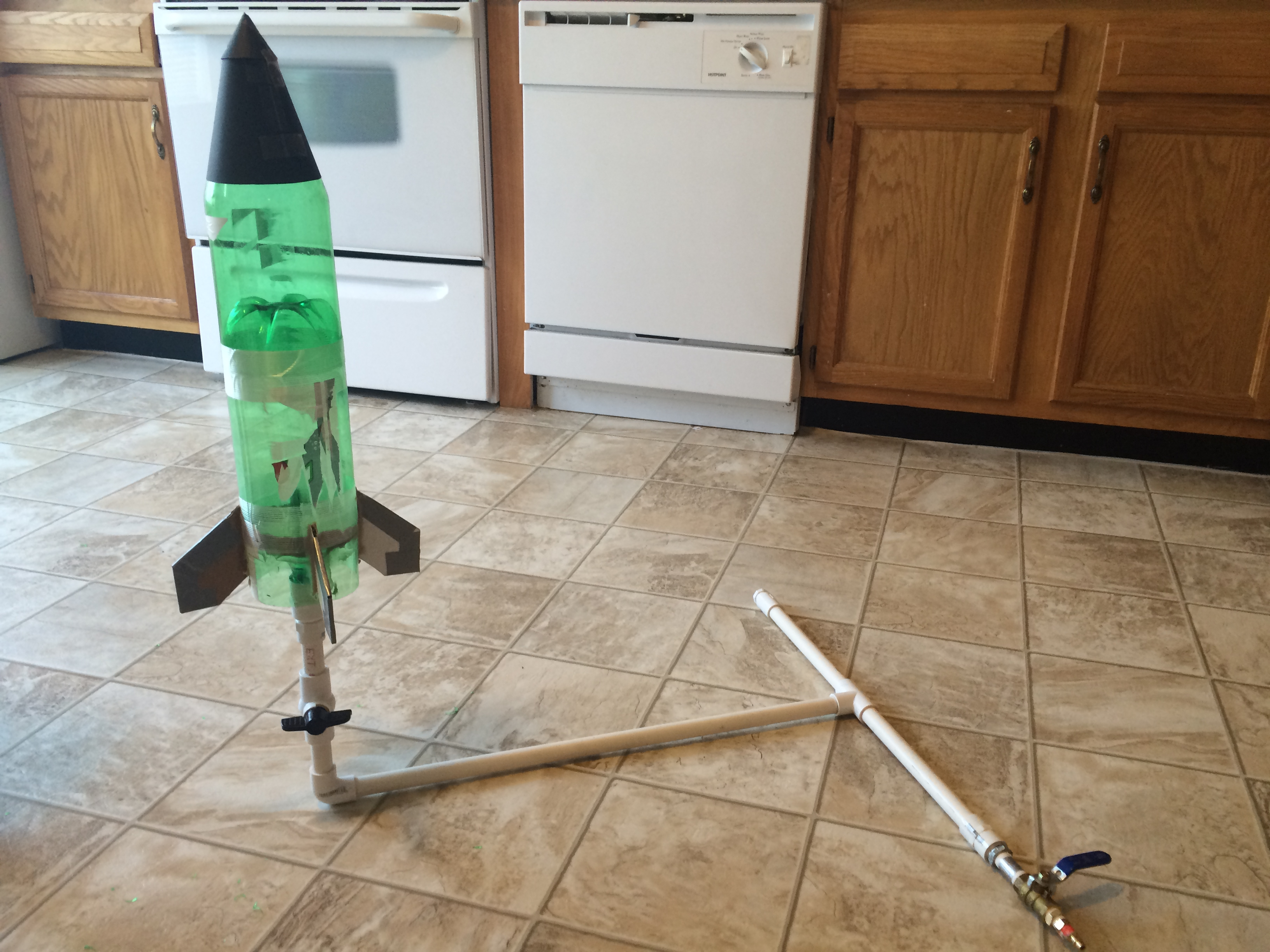 Picture of Launching the Rocket