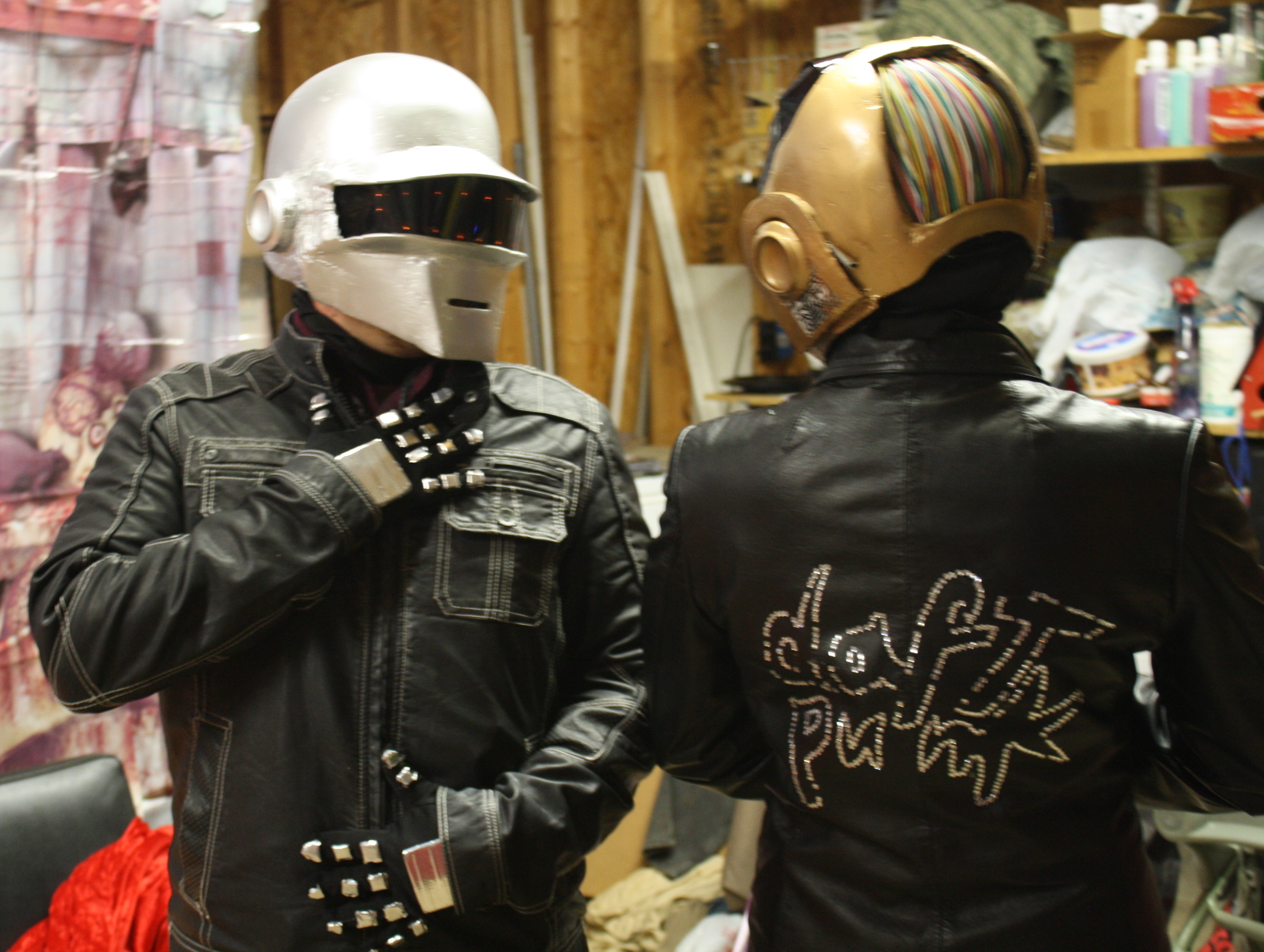 Picture of Daft Punk Helmets and Complete Costumes WithOUT Using a Vacu-form