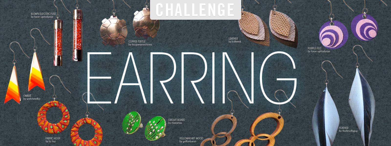 Earring Challenge Copper Recycled Circuit Board Earrings Dangle