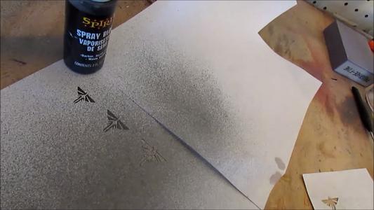 Make Stencil and Spray