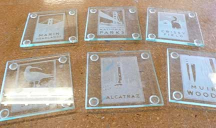 Using a Laser Cutter to Make Etched Glass Coasters, Glasses and CHOCOLATE