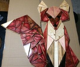 Geometric Wooden Fox From Scraps