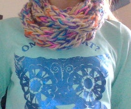 How to Knit a Scarf With Your Fingers
