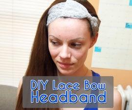 DIY Lace Bow Headband