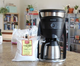 How to Clean a Coffee Maker With Citric Acid