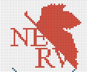 Neon Genesis Evangelion Cross Stitch: NERV Logo