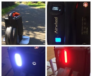 The Burn Wheel - Airwheel With Integrated Biometrics and Lighting