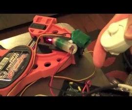 Simple Wii Nunchuk + Arduino + laser ponter turret