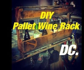 DC. PALLET WINE RACK