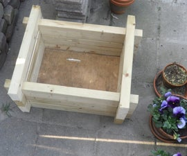 Flower box made out of leftover wood