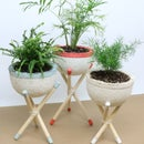 Mushroom Plant Pots With Stands