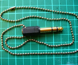 Make a 1/4 Inch Adaptor Necklace