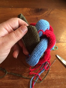 Adding the Final Lengths of Knitting to Complete the Shape