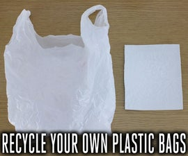 Recycle Plastic Bags Into Usable Plastic Sheets