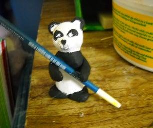 Clay Panda Chopsticks or Spoonholder